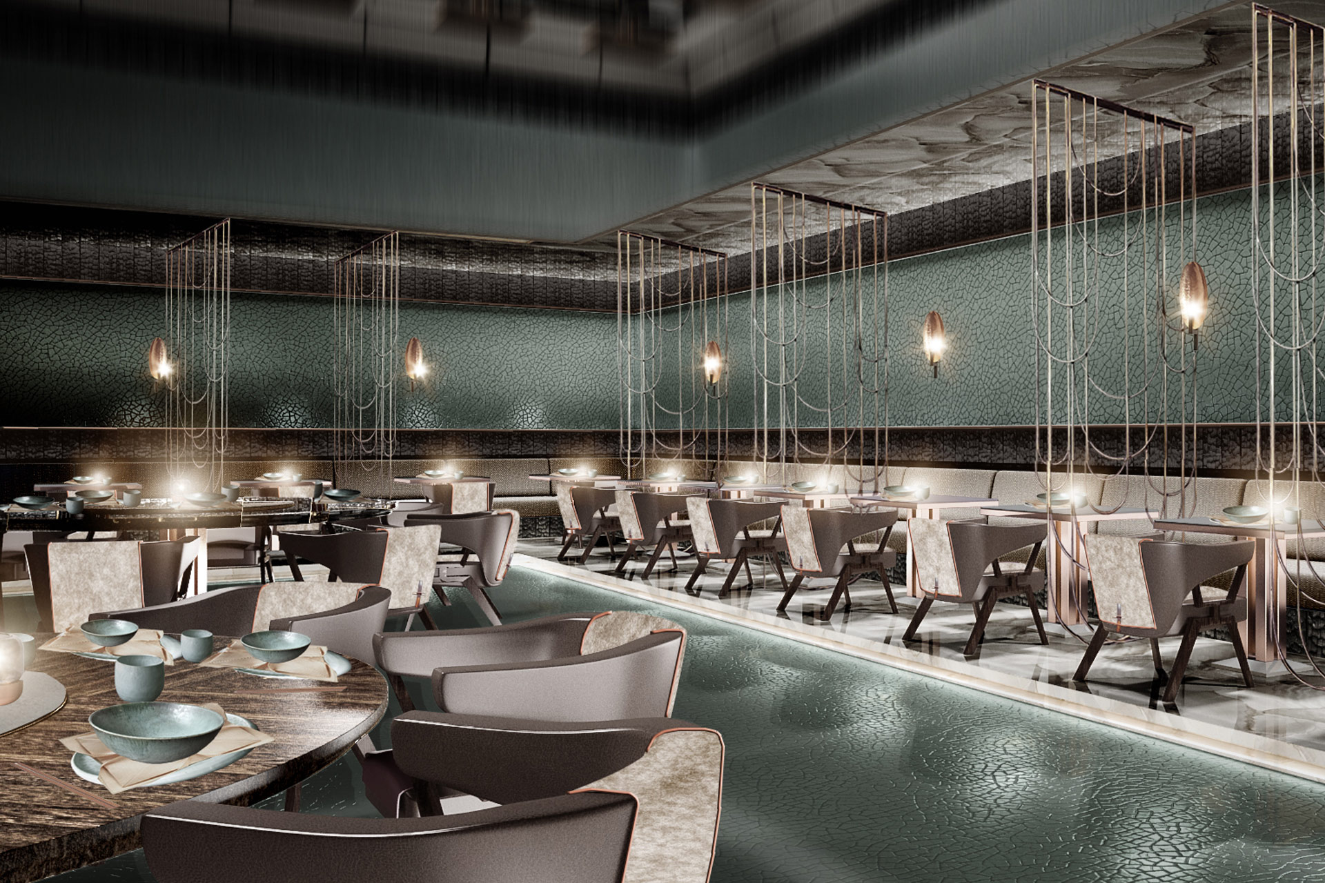 Dubai restaurant — carlisle design studio